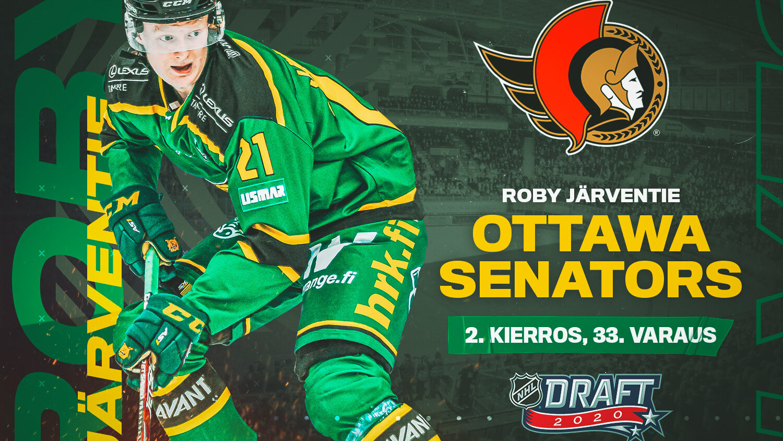 Roby Järventie drafted to Ottawa Senators • Tampereen Ilves